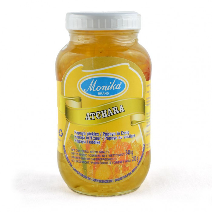 Atchara, chutney med papayabas.