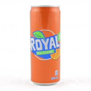 Royal, carbonated Filipino soft drink with orange taste