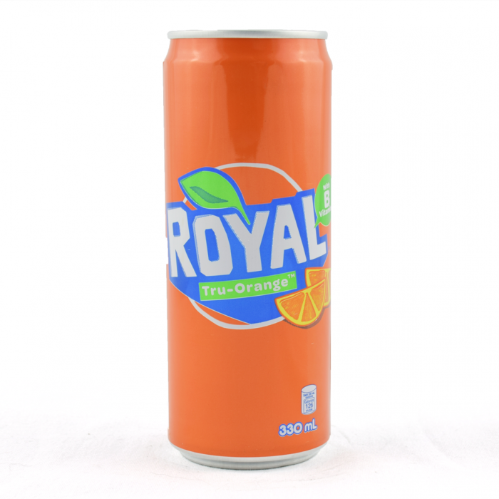 Royal, carbonated Filipino soft drink with orange taste