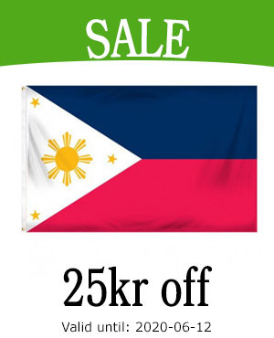 Sale on The Philippines flag until The Independence day of The Philippines