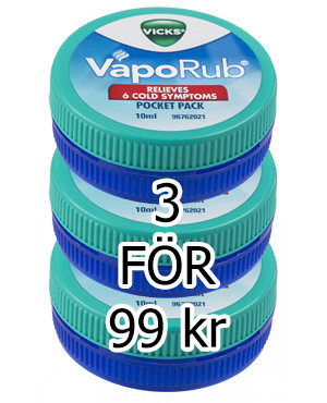 Vicks VapoRub salva paketpris